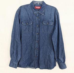 ⚡3/$15 Vintage Denim Button Up Shirt